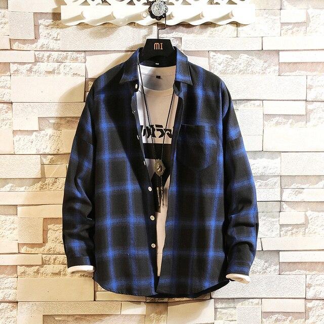 1764fd5a2de9 2018 Slim Fit Men Winter Long Sleeve Shirt Warm Casual Vintage Corduroy Mens  Formal Shirt Camisa Masculina mens button shirt