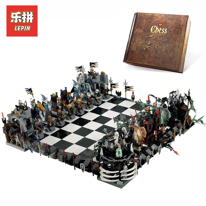 Lepin 16019 2475Pcs Creative movies series Castle LegoINGly 852293 Large Chess Building Blocks toys for Children Christmas gifts james eade chess for dummies