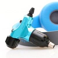 Blue HALO2 RCA Rotray Swiss Motor Tattoo Machine Gun + Auto Lock Tattoo Grip Tube Supply HCM02 BE#