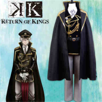 Anime K Missing Kings Isana Yashiro Cosplay Costume Uniform Cloak+Coat+Trousers+Shirt+Tie+Gloves+Hat+Brooch+Free Shipping G