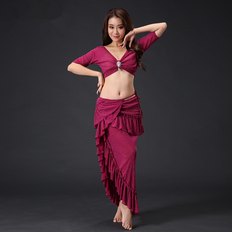 Bellydance oriental Belly Indian eastern hair swinging dance dancing costume costumes bra belt pearl embroidered robe dress 2375