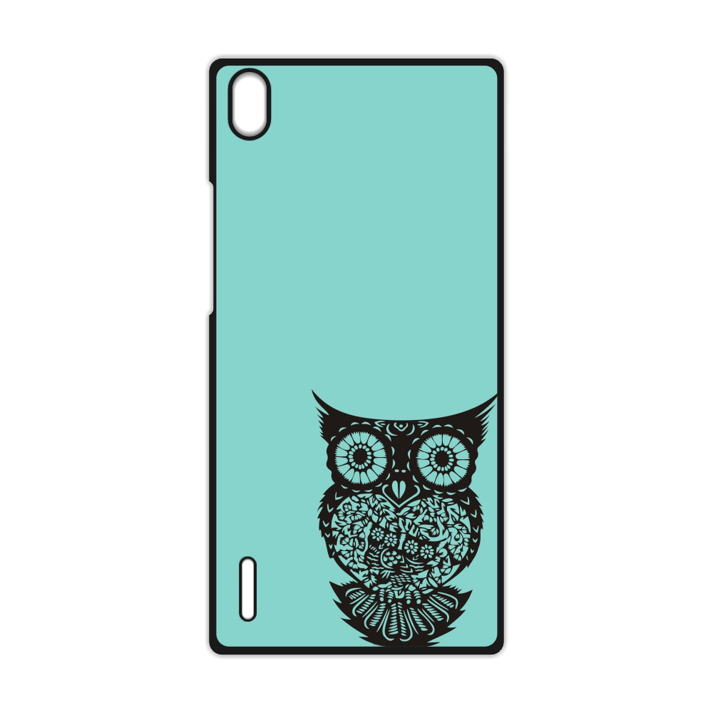 Owl On Mint Tree Cover Case for Huawei P7 P8 P9 Lite P9 Plus for Xiaomi Redmi 2 3 3S Note 2 3 Case