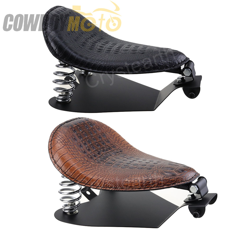 Motorcycle Solo Seat /Solo Seat Baseplate /Springs /Bracket Sitting Cushion Mounting Kit For Harley Sportster Bobber Chopper