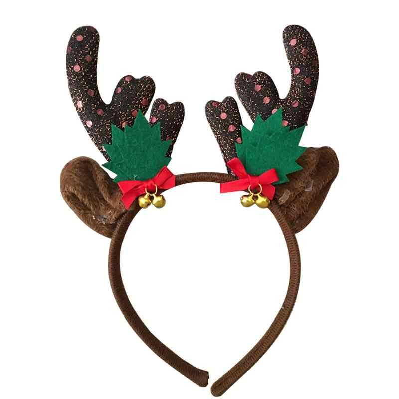 f577eaa504043 Christmas Kids Headband Reindeer Antler Hair Hoop Headpiece for Kids  Christmas Costume Party