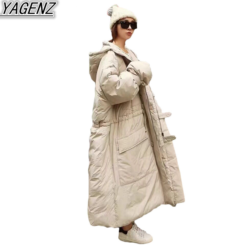 2019 Winter Fashion Loose Cotton-padded Coat Women's Warm Hooded Down Cotton Jacket Coat Women's Large Size Thick Cotton Jackets