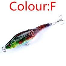 New 1pcs 3 Sections Fishing Minnow Lure Artificial Bait Treble Hooks 9.5cm 8.9g Painted Crankbait Fishing Tackle NE-419