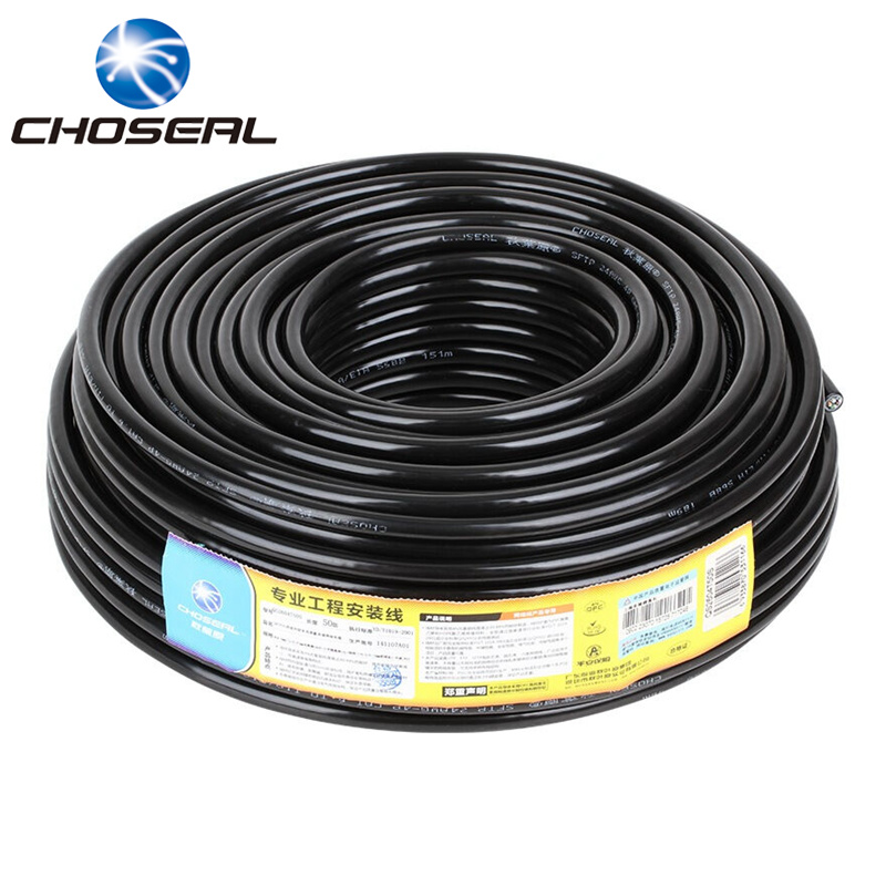 Choseal Gigabit Cat6 Ethernet Cable Waterproof 50m 100m 305m 8Pin Double Shielding Twisted Pair Wire For Network Wiring 100m cat5 5e 8 pin intertek high speed lan network cable utp copper core wire twisted pair ethernet cables internet cable for pc