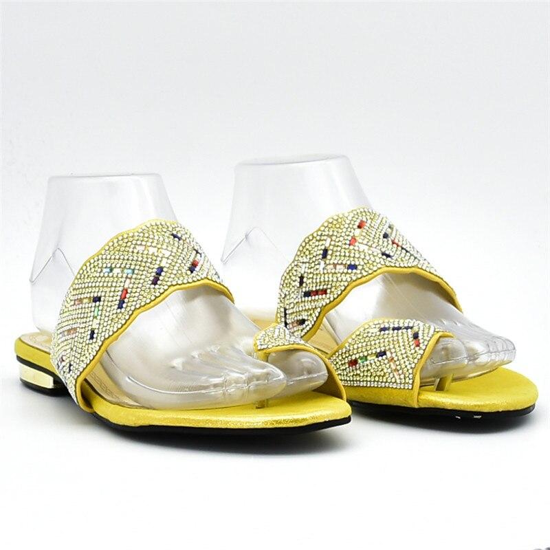 or Mode Strass Chaussures Cristal Avec yellow Nigérian Femmes Italie Noir 2018 Luxe sliver Mariage De Designer Nouveau Décoré purple dfaOqFa