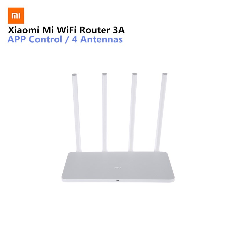 Xiaomi Mi WiFi Router 3A 11AC 1167Mbps 2.4GHz 5GHz Dual Band 128MB Flash ROM With 4 Antennas Repeater APP Control