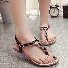Nice New Arrival Summer Women Sandals Metal Women Shoes Chains Flip Flops Flats Beach Flat Heel Sandals 25-61 Fashion