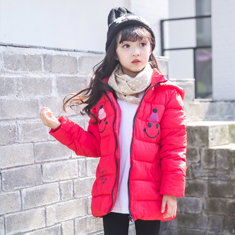 Girls Clothing Down & Parkas 2017 Winter Solid Cartoon Cotton Zipper Hooded Kids Boys Jacket Children Outwear Coats Tops 3dp018 jackets for girls winter cotton down jacket for girl down parkas with fur hooded polka dot outwear coats children s clothing hot