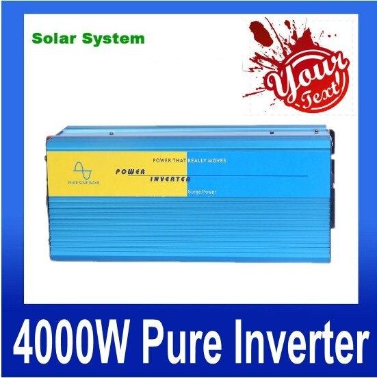цена на inverseur de panneau solaire solar panel inverter 4000W Pure Sine Wave Power Inversor DC 12V TO AC 220V (8000W peak power)