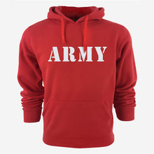 High Quality Vintage Army Logo Men Hoodies