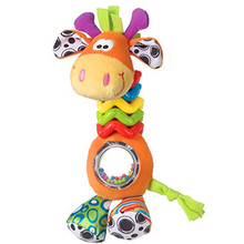 Cartoon Plush Giraffe Baby Toys Educational Baby Stroller Toys Baby Rattle Toys