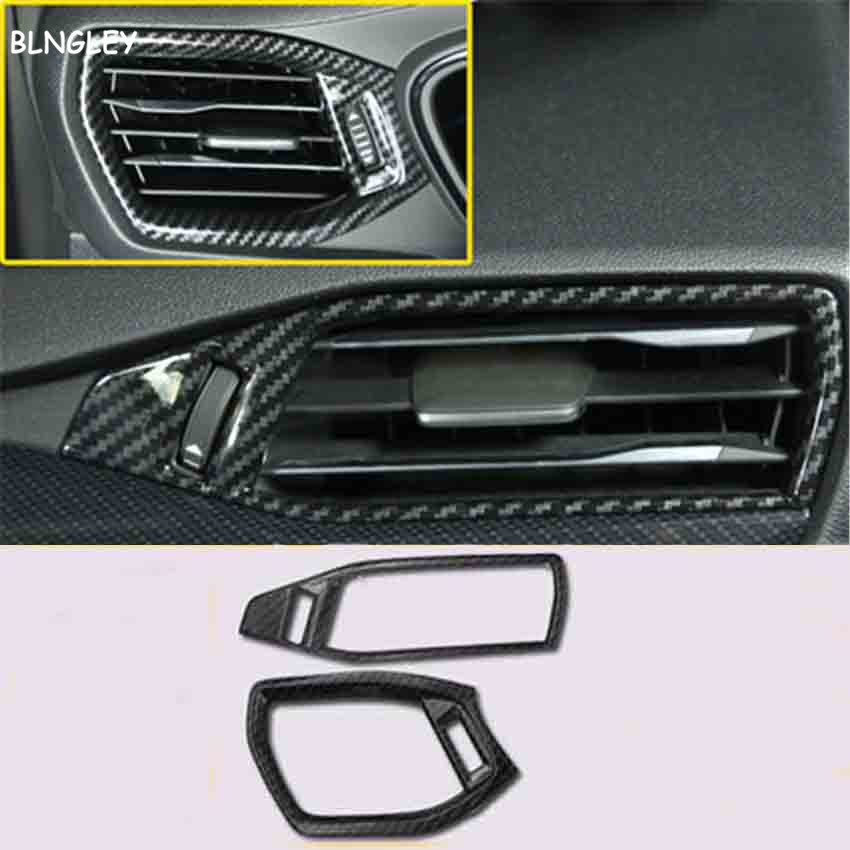 Image 5 - Free shipping 1lot ABS carbon fiber grain Interior decoration cover for 2019 Ford FOCUS 4 MK4 car accessories-in Car Stickers from Automobiles & Motorcycles