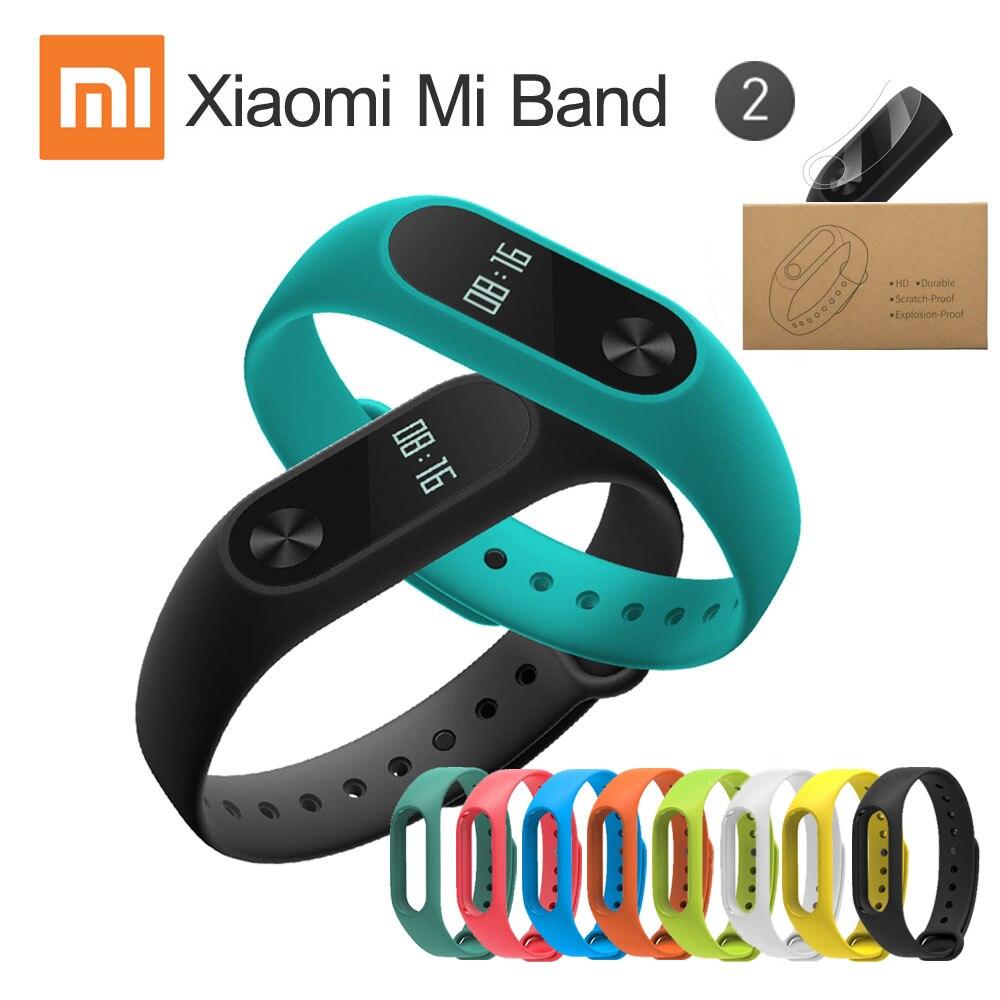 imágenes para Mi Banda 2 Miband XIAOMI mi Pulsera Pulsera Inteligente 2 Banda Smartband Actividad Rastreador de Fitness Monitor de ritmo cardíaco En Stock