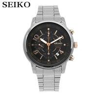 Мужские часы Seiko Top Luxury Brand Водонепроницаемые спортивные наручные часы Бизнес повседневные часы Хронограф Дата кварцевые часы Наручные часы