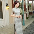 2017 Chinese Traditional Women Cheongsam Slim Slit Chinese Style Traditional Long Cheongsam Vestido Chinese Oriental