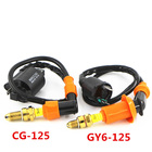 New Racing Performance Motorcycle GY6 Ignition Coil + Motorcycle Spark Plug Fit GY6 125CC CG125 Ignition Coil