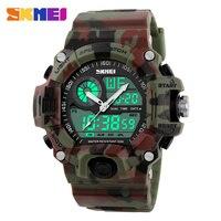 Men Sports Watches Military Watch Dual Time Digital Quartz LED Chronograph Dive Outdoor Dress Wristwatches 4Colors