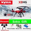 2016 SYMA X8HG 2.4G 6-Axis Quadcopter Drone com Câmera Profissional HD 720 P/1080 P RC Helicóptero Vs MJX Syma X101 X8 X8G X8C X8W