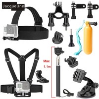 Jacqueline for Gopro hero 6 Accessories Kit Mount Set for Gopro Hero 5 4 3+ 3 for Sjcam J4000 SJ5000 SJ6000 SJ7000 H9R H9