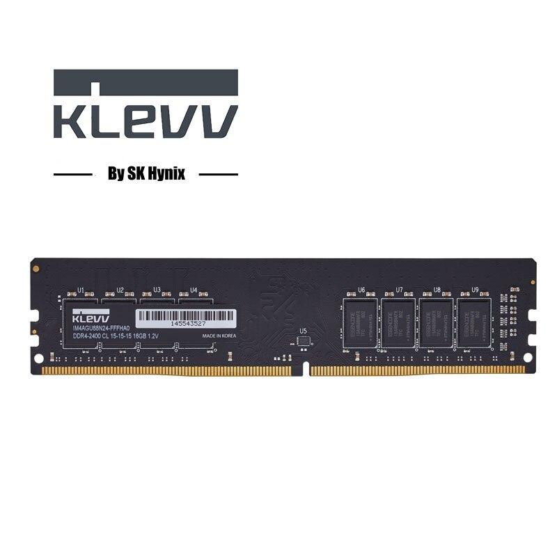 Klevv ddr4 ram 16 GB 8 GB 4 GB 2400 MHz DIMM ordinateur de bureau de mémoire Soutien mère ddr4