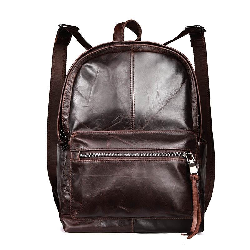 ФОТО 2016 Women Men Backpack A for Teenage Girls Genuine Leather School Bag Vintage Male Shoulder Bag Waterproof Travel Bag Big Space