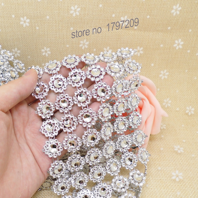 375x5yards silver flower diamond mesh rustic wedding centerpieces 375x5yards silver flower diamond mesh rustic wedding centerpieces vintage wedding decoration diy craft supplies in party diy decorations from home junglespirit