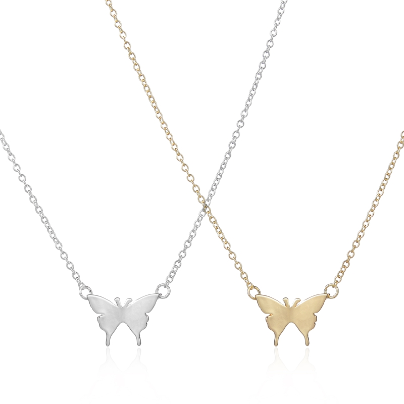 2016 New Arrival Gold Necklace Cute Butterfly Pendant
