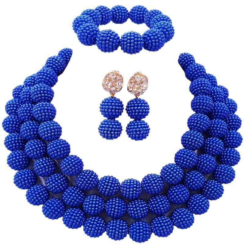 El yapımı Renkli Nijeryalı Tasarım Stil Kadın Mücevher Setleri için Parti 3C-ZZ-09
