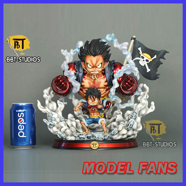 MODEL FANS IN-STOCK BBT SD one piece luffy Gear fourth GK resin statue figure toy for collection