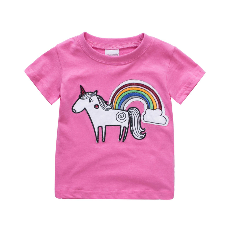 2018 Girls T shirt Kids Clothes Tshirt Baby Summer Top Tops Camiseta Children Camisetas Vetement Enfant Fille Toddle T-shirts