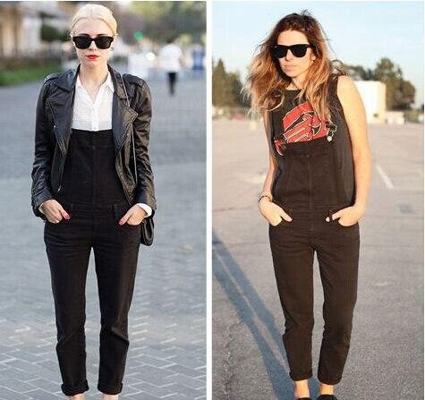 962a2cc6780a25 2014 fashion denim Olivia Palermo black overalls macacao jeans feminino e  macaquinhos american apparel jumpsuit women rompers on Aliexpress.com |  Alibaba ...