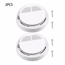 2Pcs Sensor Sensitive Photoelectric Home Independent alarm Smoke Detector Fire Alarm alone Sensor For Family Guard