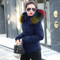 2019 Fashion Womens Winter Jackets Coats Parkas Women Outerwear Winter Jacket Multi-color large Artificial fur collar basic tops