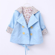 2016 baby Girls Coat Jacket Spring Autumn Girls solid color Infant baby kids princess Coat