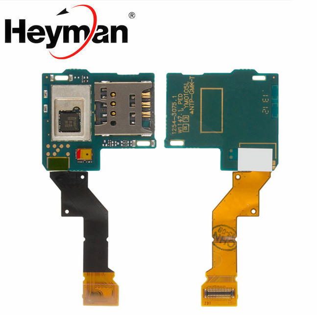 Heyman Flat Cable for Sony LT26i Xperia S Cell Phone(with flat cable) SIM Card Connector Replacement parts