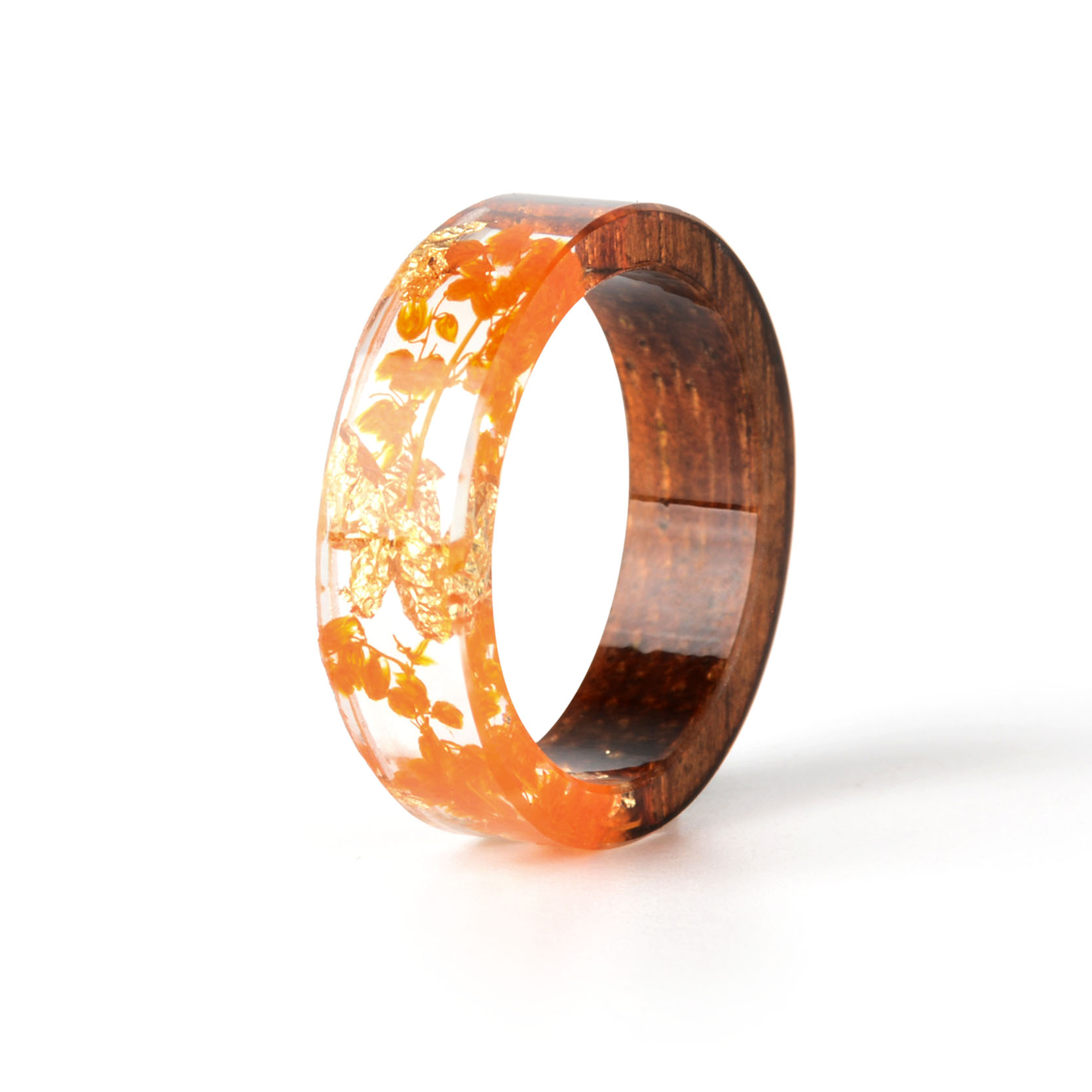 HTB1aoN9BZyYBuNkSnfoq6AWgVXad - Hot Sale Handmade Wood Resin Ring Dried Flowers Plants Inside Jewelry Resin Ring Transparent Anniversary Ring for Women