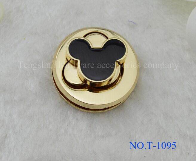 Free shipping bag lock (10 pieces/lot) high - grade mouse design handbags hardware lock diy bag accessories