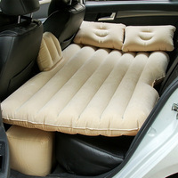 2018 High quality Car Back Seat Cover Travel Mattress Air Inflatable Bed with pump Car travel bed