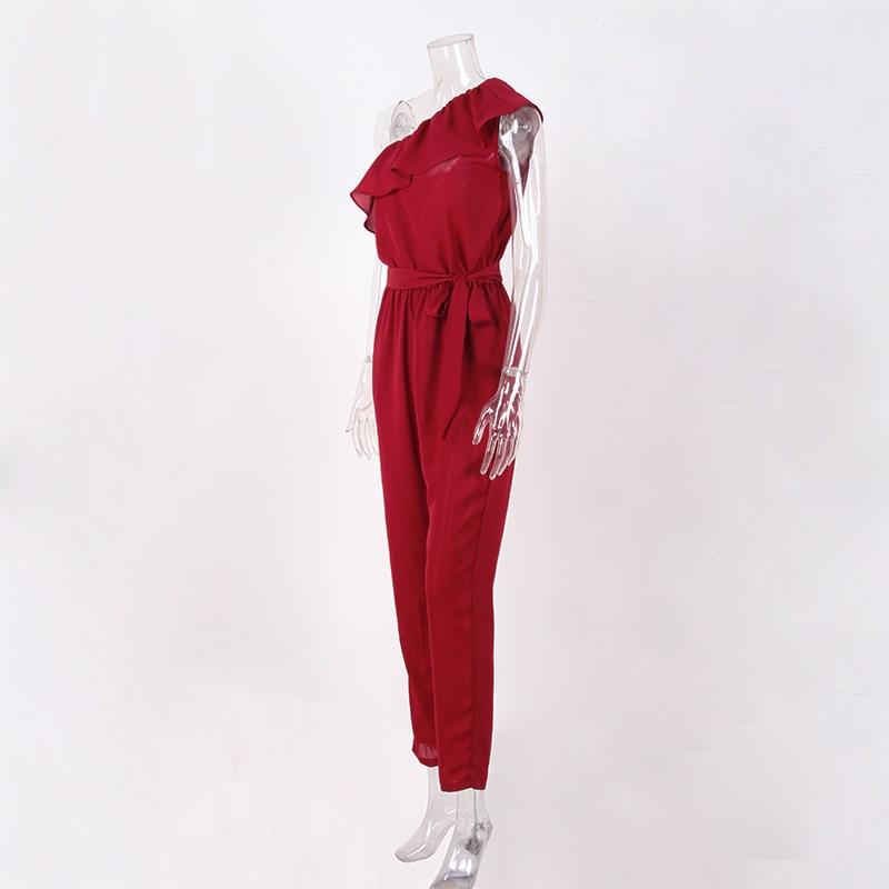 rompers womens jumpsuit summer 2018 overalls plus size jumpsuits streetwear off shoulder ruffle chiffon jumpsuits pants DC17608 2