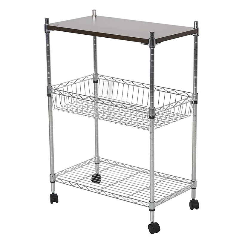 Beau 3 Tier Heavy Duty Storage Kitchen Office Cart Metal Basket Trolley With  Wheels Chopping Board In Storage Holders U0026 Racks From Home U0026 Garden On ...