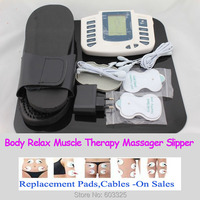 JR309A Multi Functional Digital Electrical Tens Acupuncture Therapy Massager Slimming Body Stimulator Machine Therapy Slipper
