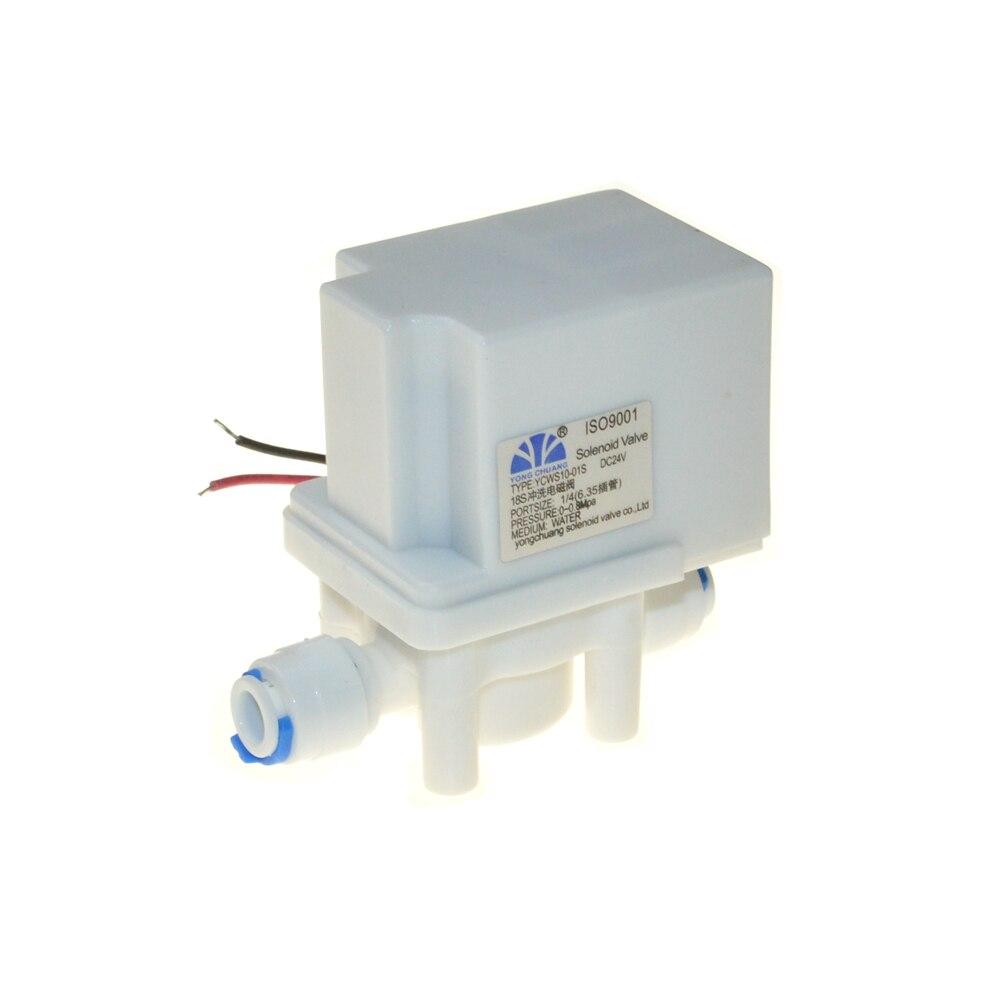 24VDC 1/4 NC En Plastique Eau Électrique Électrovanne 18 secondes AUTO Flush valve Tuyau connexion rapide