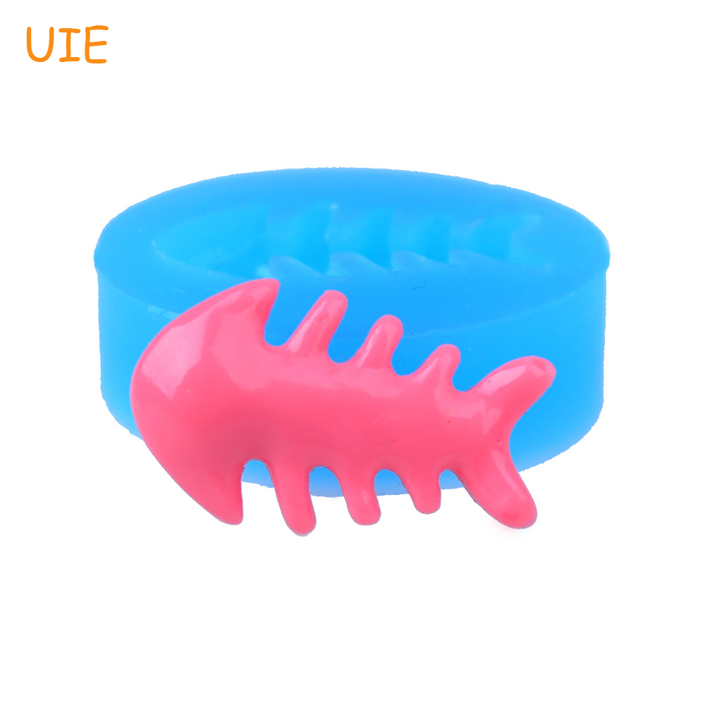 PYL079U 21.6mm Fish Bone Silicone Push Mold for Cake Topper Craft, Fondant, Gum Paste, Resin, Jewelry Making, Chocolate, Candy