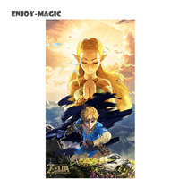 Game The Legend Of Zelda Breath Of The Wild Art Silk Fabric Poster 50X93 Cm New