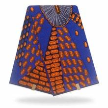 6 Yards Mitex Wax Print/ Blue African Fabrics Kitenge/Pagnes/Tissues Africain/ Lapa/Chitenge YBGHL-388-2