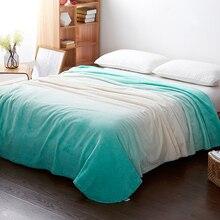 Nueva moda cálida manta de terciopelo Blanco azul Colorido caliente del invierno manta de Franela en la cama sofá plano de inicio viajes