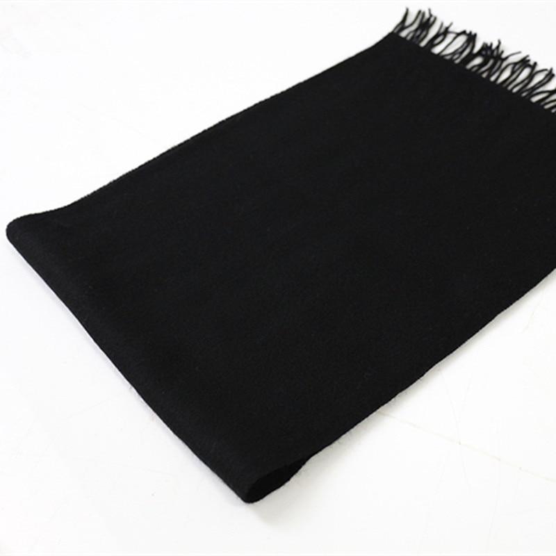 Lafarvie Sıcak Satış Yeni Varış 2018 Katı Renk Kaşmir Yün - Elbise aksesuarları - Fotoğraf 4